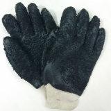 Rauer Ende-Handschuh-schwerer Gummischwarzes Belüftung-Arbeits-Handschuh