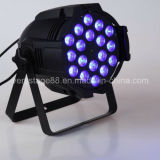 DMX512 18*15W RGBWA UV 6 in 1 LED PAR Light