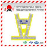 Veste reflexiva da motocicleta elevada amarela de Visibilit (vest-2)