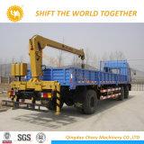 Mobile hydraulique de boum mini grue de camion de 8 tonnes à vendre
