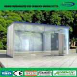 Escritório moderno modular Prefab da casa do contentor com parede de vidro