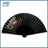 De bambu feitos sob encomenda dobram acima o ventilador de dobramento de seda da mão do ventilador com