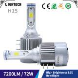 LED 크세논에 의하여 숨겨지는 장비 및 H7 LED 헤드라이트를 가진 자동 LED 헤드라이트 7600lm LED 기관자전차 헤드라이트