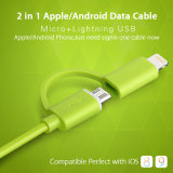 2 in One Lightning Android câble de données USB