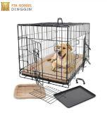 Una o due gabbia piegante del cane di animale domestico del collegare del portello