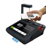 バーコードスキャンナーおよびプリンターとの磁気強打のカード読取り装置の人間の特徴をもつ支払POS