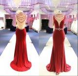Связанное платье вечера Wgf137 Mermaid красное