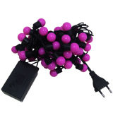 Decorações de Natal LED Ball String Light com diferentes cores