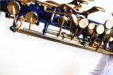Hanhai Music / Bleu Alto Brass Saxophone avec Eb Key