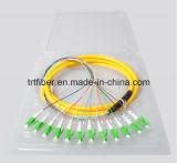 12 отрезок провода LC/APC волокна сердечника G652D однорежимный