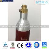Cylindre en aluminium vide de CO2 de l'utilisation 0.6L de générateur de bicarbonate de soude avec la soupape