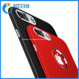Роскошный мягкий силиконовый + металла бампер чехол для iPhone 5 6 7/ 8 Plus X задняя крышка корпуса