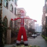 Санта Клаус надувной воздушный танцовщица в рекламе