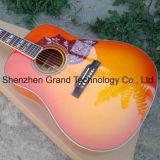 """Abeto macizo Top 41"""" en color naranja colibrí de Guitarra Acústica (GH-6)"""