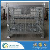 Gaiola de armazenamento dobrável e empilhável em tipo de elevação