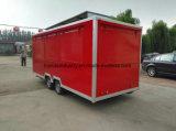 Bestelwagen van de Vrachtwagen van het Voedsel van de Schuilplaatsen van Tranda de Dubbele voor het Verkopen van Cakes en Koekje (Ce)