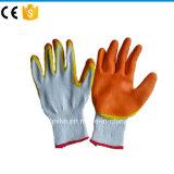 Против скольжения хлопка с покрытием из латекса Перчатки рабочие перчатки