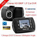 De nieuwe Zwarte doos DVR van de Auto 1.5inch met Volledige HD1080p Ntk96620 VideoChipset, g-Sensor met 3 assen, de Opsporing van de Motie, Optische Camera dvr-1502 van de Auto 5.0mega Ommivision