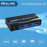 Originele 1 van uitstekende kwaliteit in 2 uit 1X2 HDMI Splitser met 3D 1080P