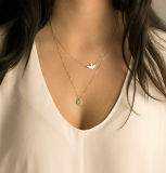 Ожерелья золота ожерелья слоя шкентелей ювелирных изделий дисков Multi для женщин