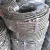 Hersteller-China-rostfreier umsponnener Luft-Schlauch ISO-9001