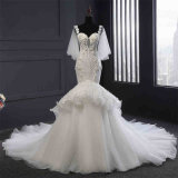 Qualité perlant la robe de mariage de sirène