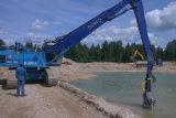 掘削機に接続する浸水許容の浚渫ポンプ