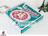 Rectángulo plegable de la pizza del papel acanalado de la hoja caliente de la venta con el rectángulo plegable impreso aduana