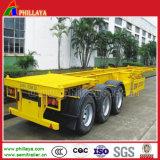3 degli assi 40FT del contenitore telai resistenti del rimorchio del camion semi