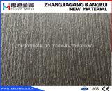 Plaque d'acier inoxydable avec les graines en bois