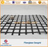 Straßenbau-Fiberglas Geo Rasterfeld-Ineinander greifen mit Asphlt beschichtete