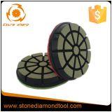 Piso de concreto de 3 polegadas almofada de polir Bond de cerâmica de Transição