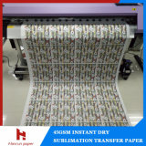 papier de transfert de la sublimation 55GSM pour le tissu de sublimation