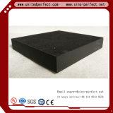Panneau de plafond noir de laines de verre avec le bord carré Nrc=0.9