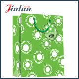 Stratifié personnaliser les sacs à provisions de papier cosmétiques bon marché estampés par logo de ventes en gros