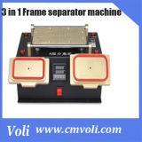 3 en 1 châssis de la station de préchauffeur de multifonction+séparateur séparateur LCD+vide de la machine