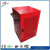 Kundenspezifischer farbiger Notizbuch-Ladestation-Schrank mit USB-aufladenkanal (WB-CC-E)