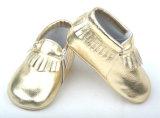 Crianças de couro Calçado para criança do espelho Moccasin Barato Equipamento