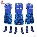 バスケットボールの均一カスタム青いベストの最新のバスケットボールのジャージーのユニフォームを設計しなさい