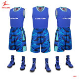 Healongのスポーツ・ウェアのバスケットボール均一カスタム青いBestbasketballジャージー