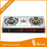 Placcare il fornello di gas d'argento del ghisa di sostegno 3 del cassetto del ferro Jp-Gc304