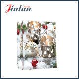 Arte brillante laminado de papel Navidad Bell cesta de regalo en la bolsa de papel