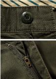 最上質の人の綿のあや織りのキャンバスの余暇の方法オリーブ色のショートパンツ