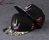 Вышитый шлем Snapback с печатание сублимации на Brim