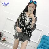 La camicia casuale delle camicette di occultamento del bikini della spiaggia di Boho del Crochet sexy del merletto della camicetta delle donne bianche supera i vestiti poco costosi Cina