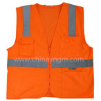 Revestimento reflector andante, colete / roupa de segurança