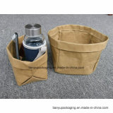 Lavable bolsa de papel Kraft, jardín de flores Pot, bolsa de regalo, bolsa de almacenamiento