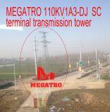 Torretta terminale della trasmissione dello Sc di Megatro 110kv 1A3-DJ