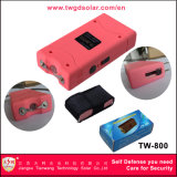Pequeño Taser Rosa (TW-800) con choque eléctrico para autodefensa