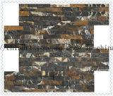 壁の装飾のための黒い金ポーターの石の大理石のモザイク・タイル